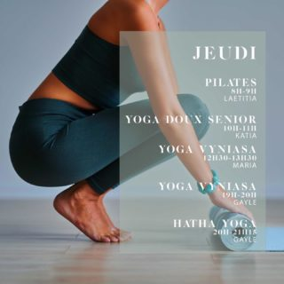 """C'est la rentrée!!! Demain démarrent de nouveaux cours ! . . Retrouvez @laetitiabres pour le nouveau cours de Pilates body balance demain de 8h à 9h. . Katia pour un cours de yoga doux senior demain à 10h. . Et @mariashakhnova pour son nouveau cours de Vyniasa de 12h30 à 13h30. . Puis le soir @welburngayle avec les cours de vyniasa à 19h et hatha yoga à 20h. . . OFFRE DE RENTRÉE: tous vos cours de l'année à 14€ pour l'achat du forfait annuel 30 cours à seulement 420€. (Offre valable jusqu'au 15 septembre).  Cours d'essai : 15€. Inscription en ligne sur la page """"je réserve"""" de notre site.  . . #pilatesbodybalance #pilates #pilatesparis #pilatespantin #yogaparis #yogapantin #offrederentrée #pantinmaville #pantinisbeautiful"""