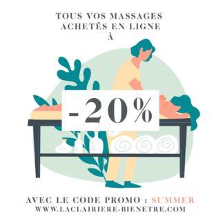 """On en profite vite ! . . -20% sur tous vos massages pour toute réservation en ligne d'un massage avant le 28/08/21 ! . . Code promo : SUMMER Sur la page """"je réserve"""" de notre site. . #bonplan #summer #massage #wellness #wellness #pantinisbeautiful #pantinmaville #bienêtre"""